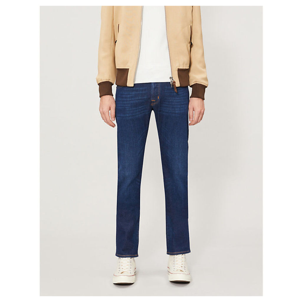 Faded slim-fit straight jeans