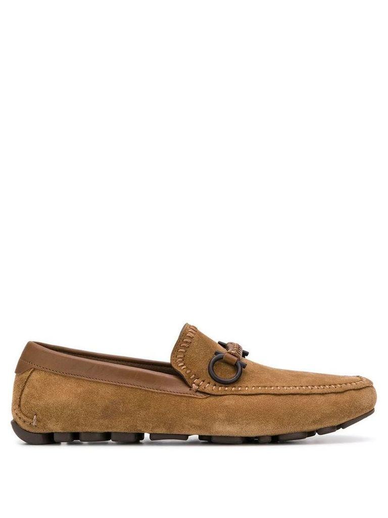 Salvatore Ferragamo strap detail loafers - Brown