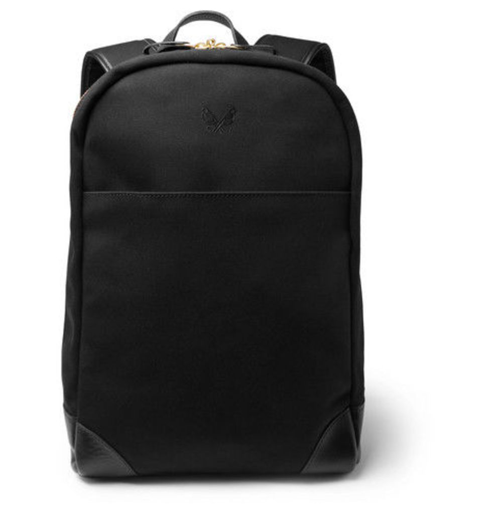 Bennett Winch - Leather-trimmed Cotton-canvas Backpack - Black
