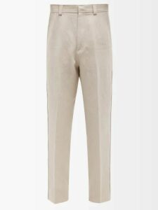 Burberry - Icon Stripe Slim Leg Cotton Twill Chino Trousers - Mens - Camel