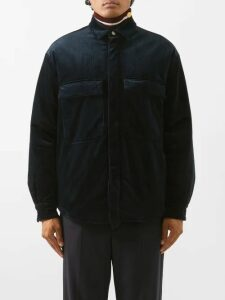 Balenciaga - Contrast Panel Logo Print Jacket - Mens - Ruby