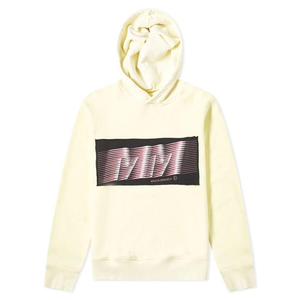 Maison Margiela 10 Slim Fit MM Logo Hoody Pale Yellow