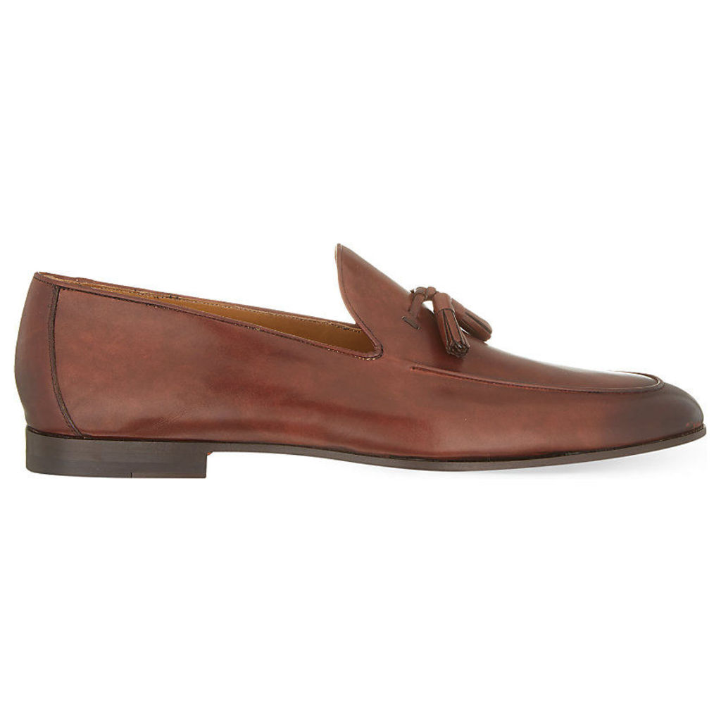 Magnanni Leather tassel loafers, Mens, Size: 5, Tan