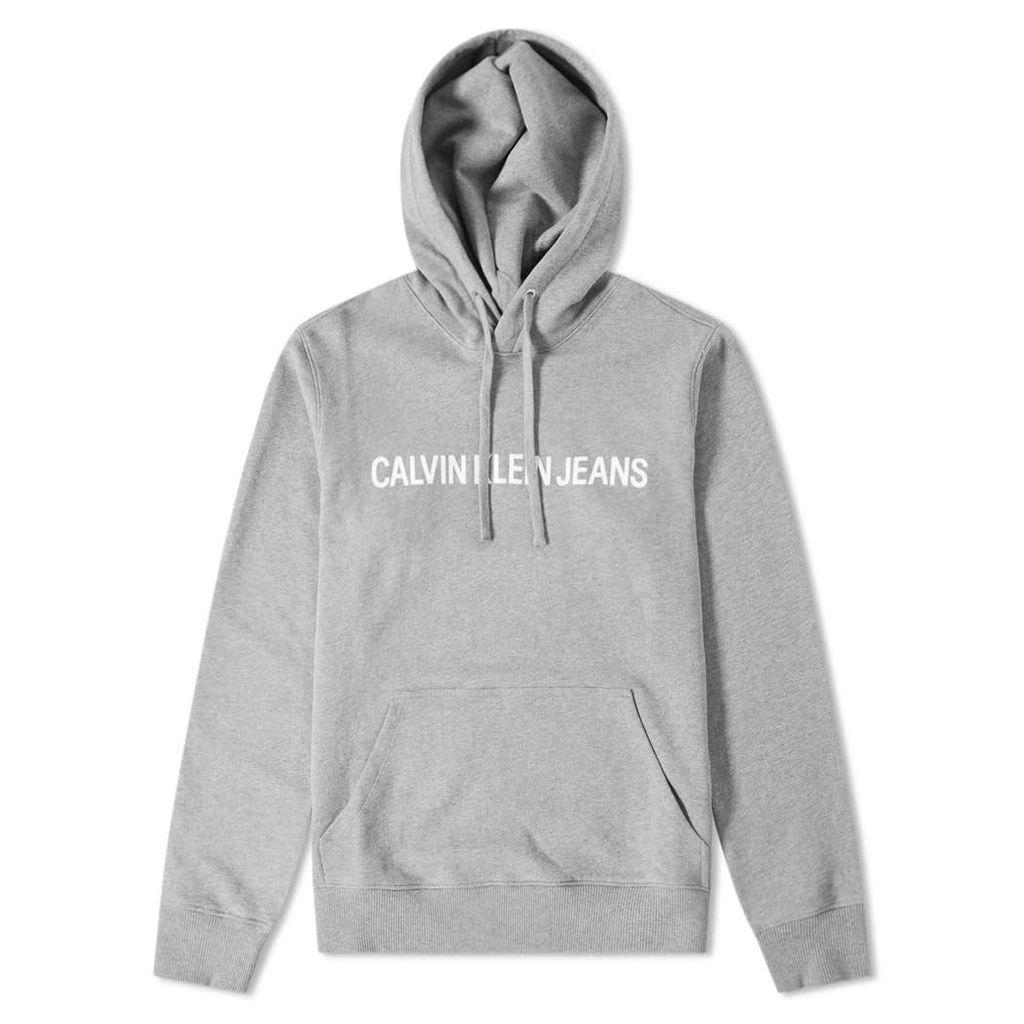 Calvin Klein Institutional Popover Hoody Grey Heather