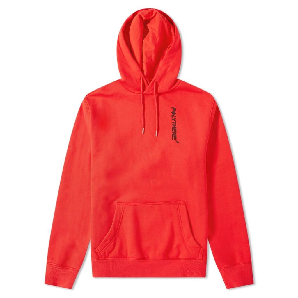 Polythene Optics Logo Popover Hoody Red & Black