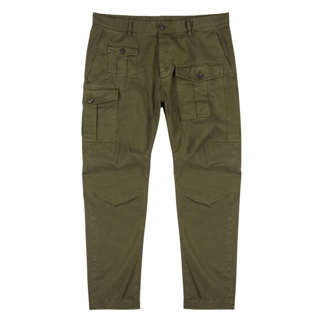 Dsquared2 Slim-leg Cotton-twill Trousers