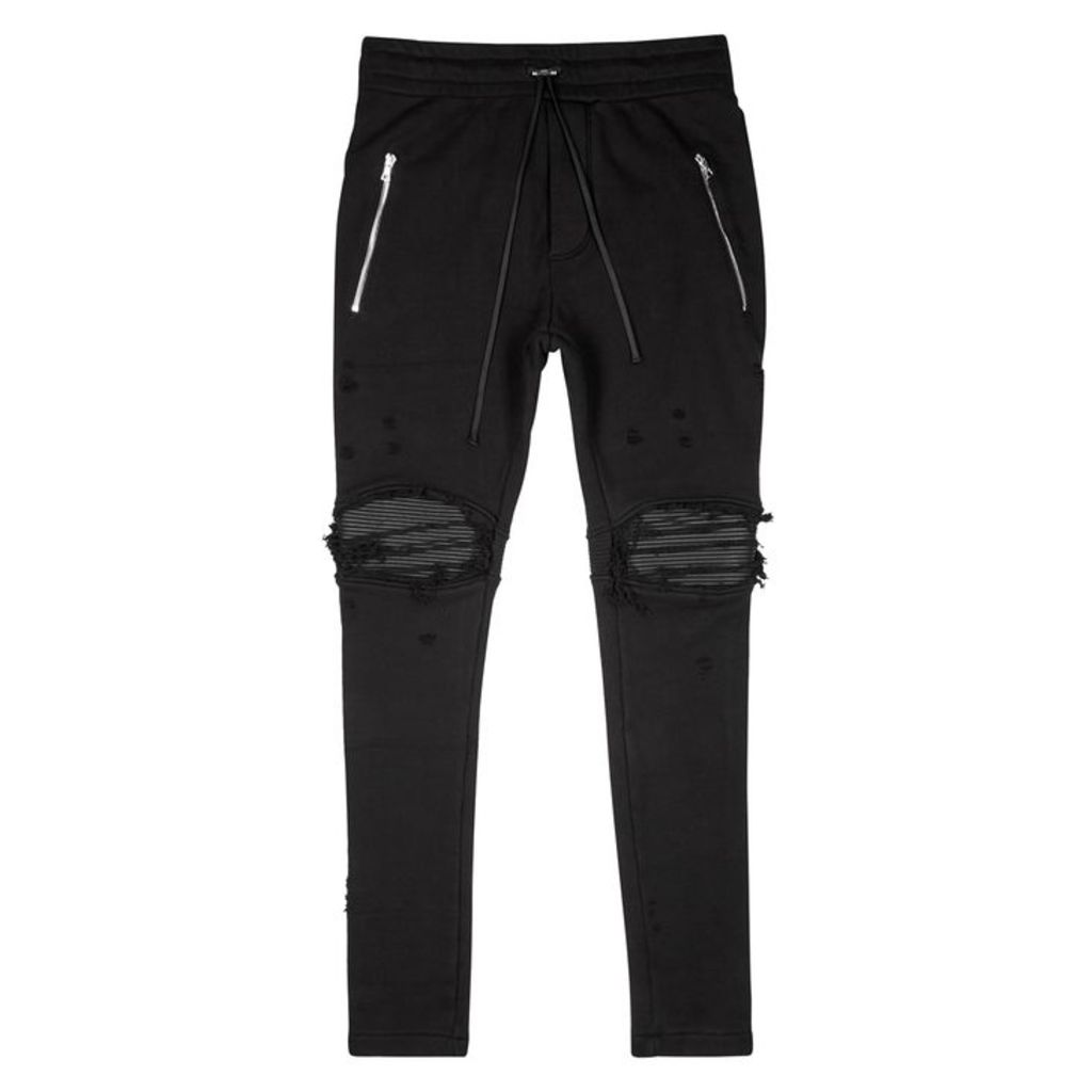 Amiri Black Distressed Cotton Sweatpants