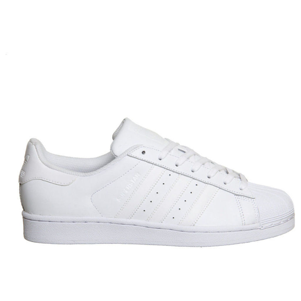 Adidas Superstar 1 trainers, Mens, Size: 06/01/1900, White mono foundatio