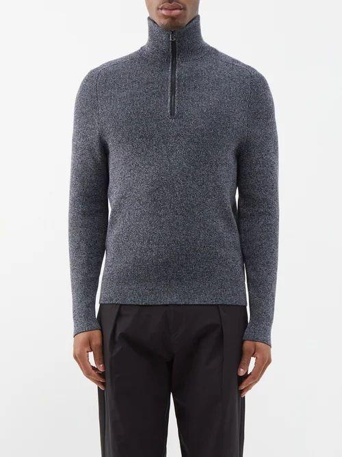 Alexander Mcqueen - Zipped Knee Cotton Micro Twill Trousers - Mens - Black