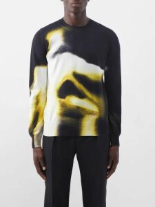 Alexander Mcqueen - Zipped Knee Cotton Micro Twill Trousers - Mens - Black