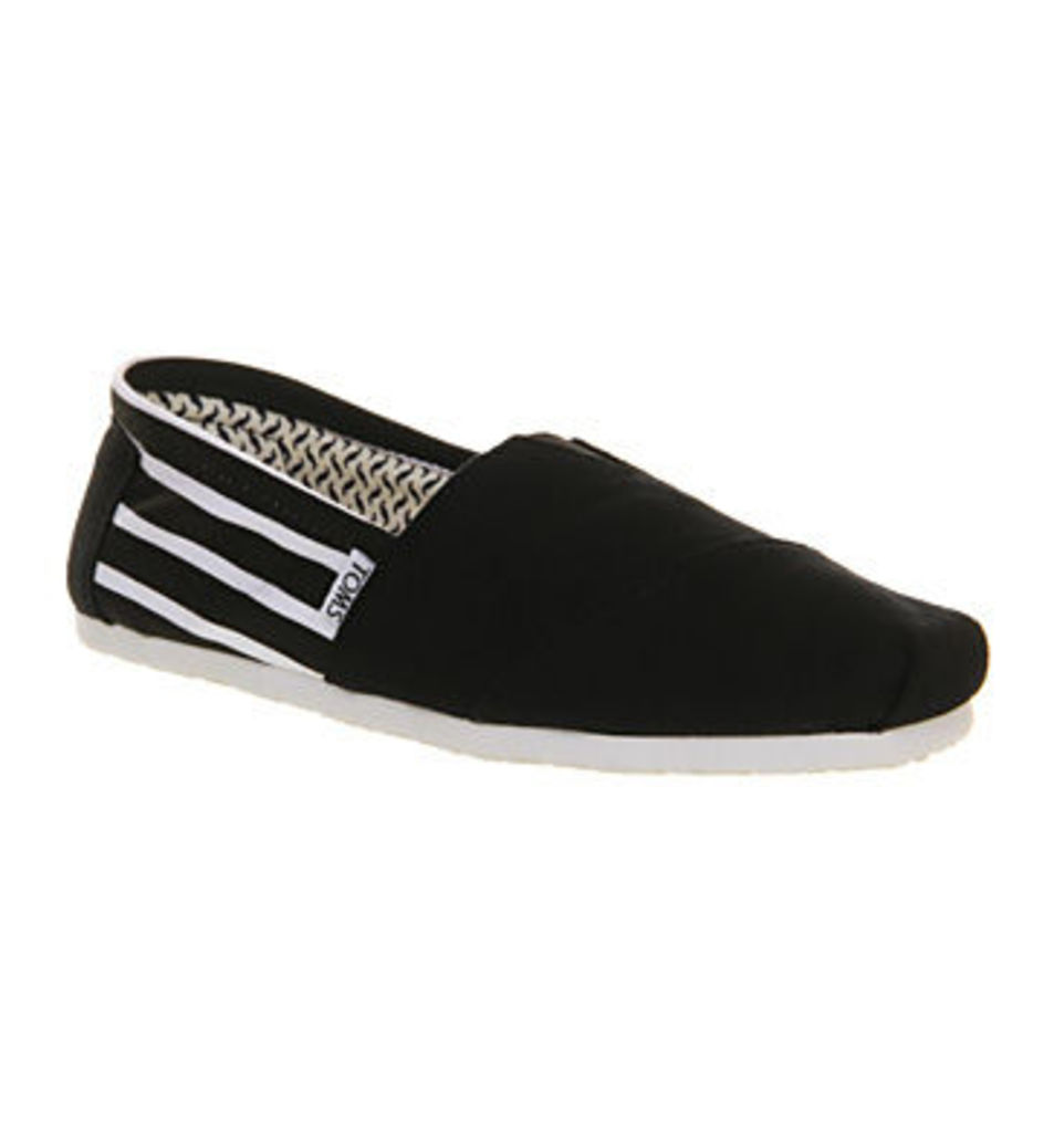 ce943e610ef Toms Classic Smu BLACK WHITE STRIPES CANVAS by TOMS