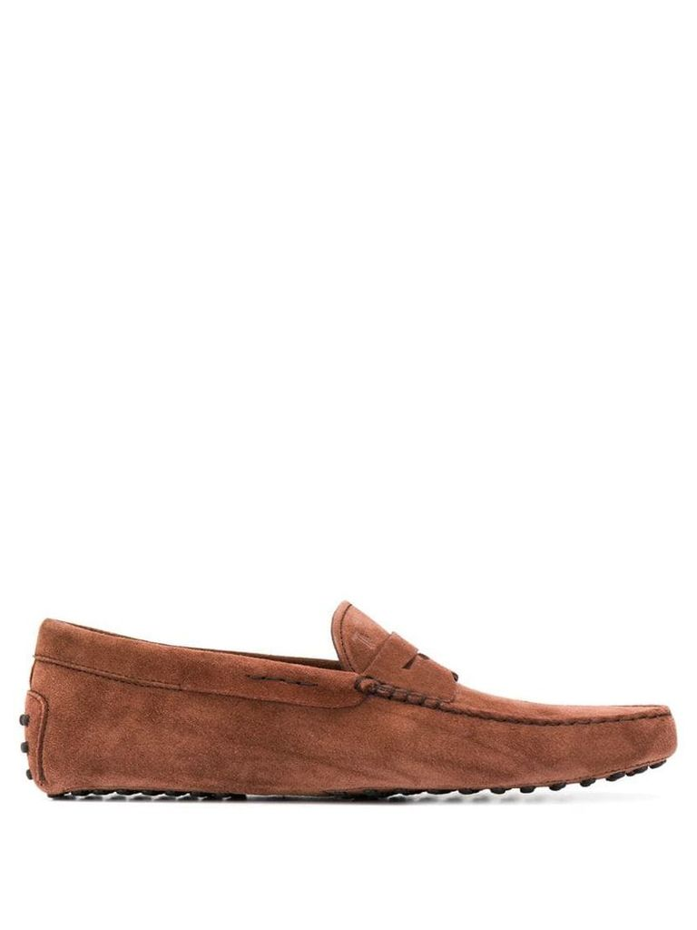 Tod's slip on loafers - Brown