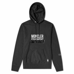 Moncler Genius - 7 Moncler Fragment Hiroshi Fujiwara - Tape Embossed Hoody Black
