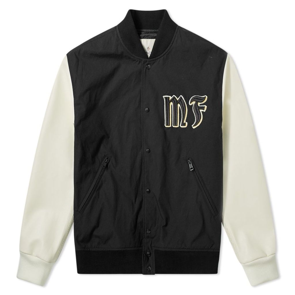 Moncler Genius - 7 Moncler Fragment Hiroshi Fujiwara - Varsity Jacket Black