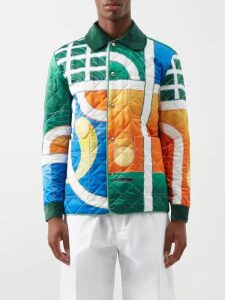 Barena Venezia - Prince Of Wales Check Wool Blend Trousers - Mens - Grey Multi