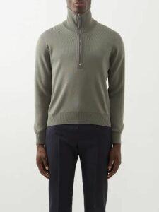 Jacquemus - Elie Crew Neck Sweater - Mens - Dark Green
