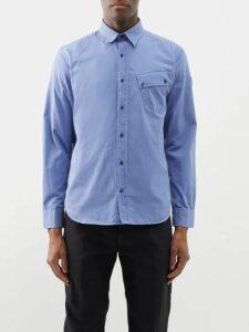 Vetements - Contrast Panel Cotton Track Pants - Mens - Purple Multi