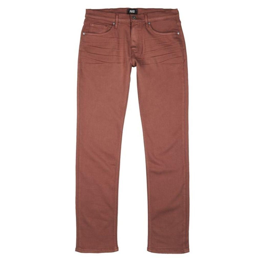 Paige Federal Pink Slim-leg Jeans