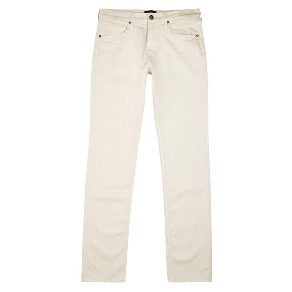 Paige Lennox Ivory Slim-leg Jeans