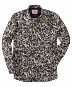 fc26949bb6f9c1 Pretty Green Men s Classic Fit Liberty Print Shirt - Purple - S by ...