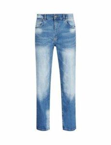 Mens Light Blue Logan Straight Fit Jeans, Blue
