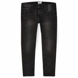 Mens River Island Only & Sons Big and Tall Black skinny jeans