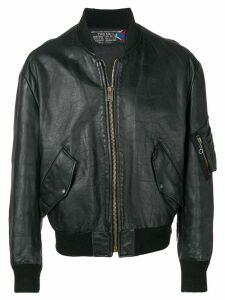 A.N.G.E.L.O. Vintage Cult 1980's leather bomber jacket - Black