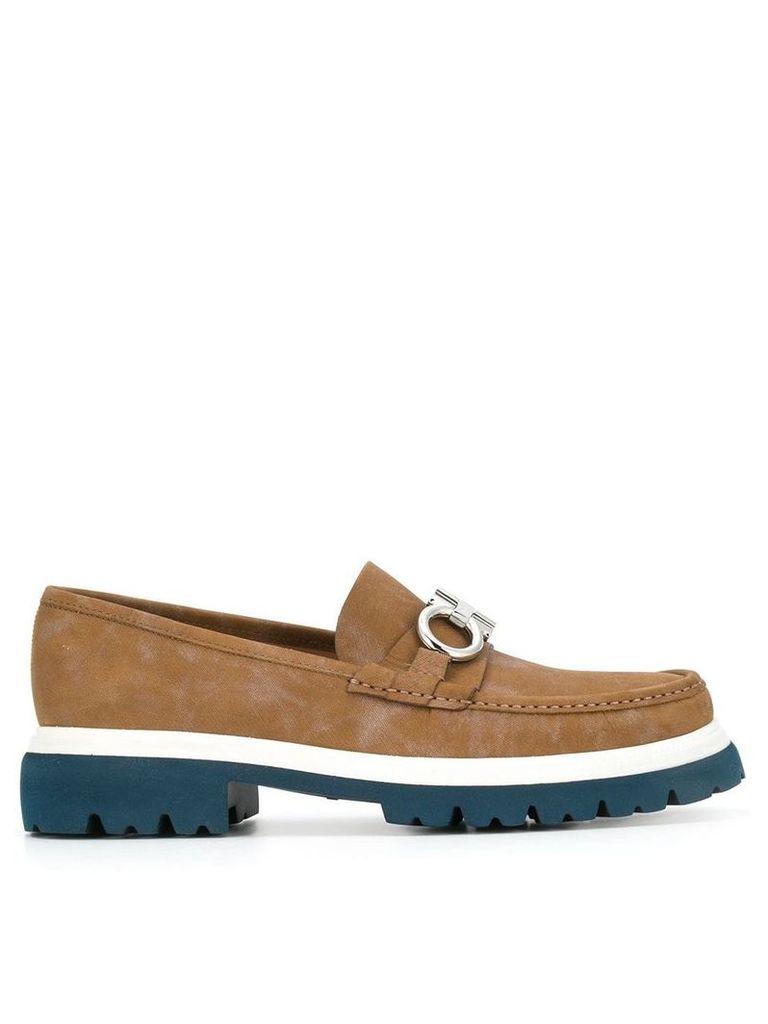 Salvatore Ferragamo ganicini moccasin loafers - Brown