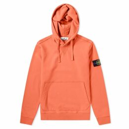 Stone Island Garment Dyed Popover Hoody Coral