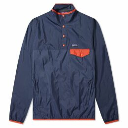 Patagonia Houdini Snap-T Pullover Jacket Stone Blue & New Navy