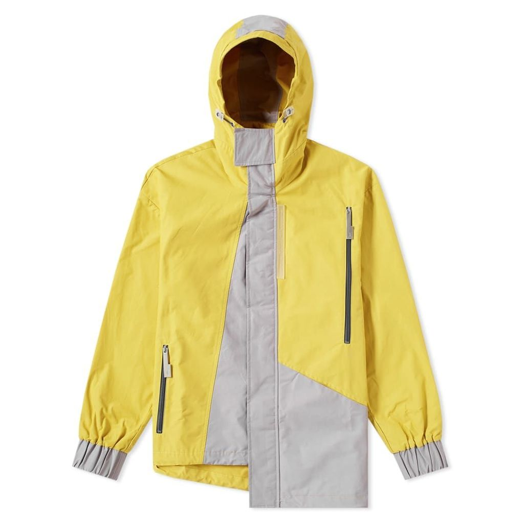 A-COLD-WALL* Asymmetric Hooded Windbreaker Ochre