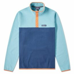 Patagonia Micro D Snap-T Pullover Jacket Stone Blue & Dam Blue