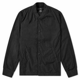 Save Khaki Poplin Bomber Jacket Black
