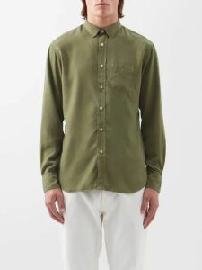 Hecho - Cotton Blend Terry Trousers - Mens - Green