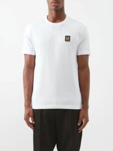 Burberry - Monogram Print Cut Out Silk Sweater - Mens - Blue
