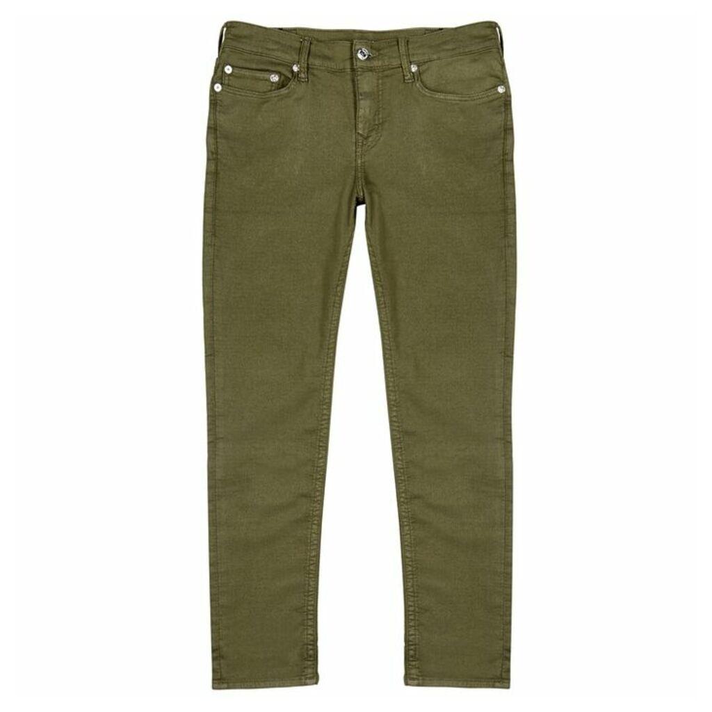 True Religion Rocco Army Green Skinny Jeans