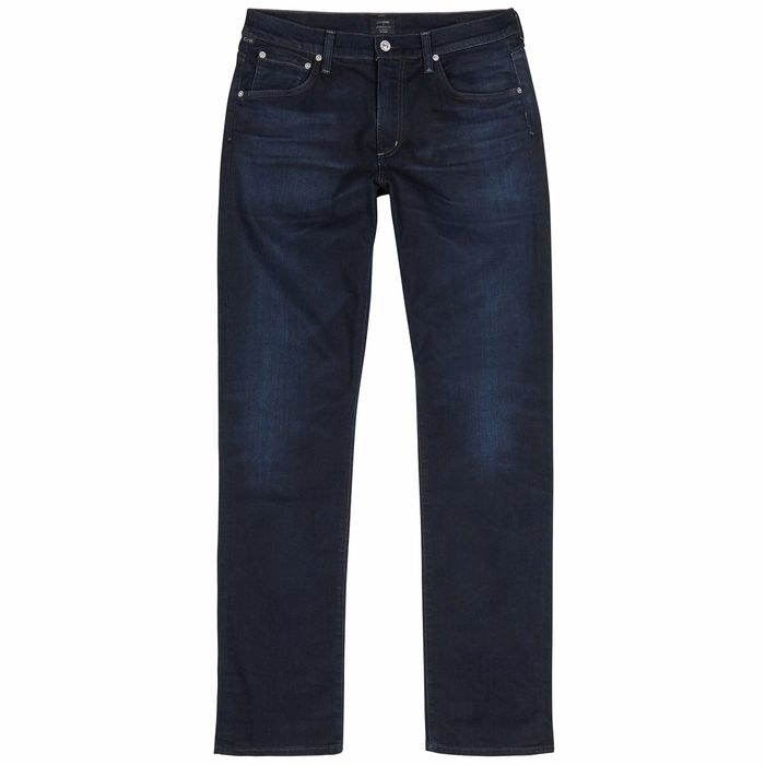 Citizens Of Humanity Gage Dark Blue Straight-leg Jeans