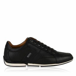 Boss Textured Leather Trainers