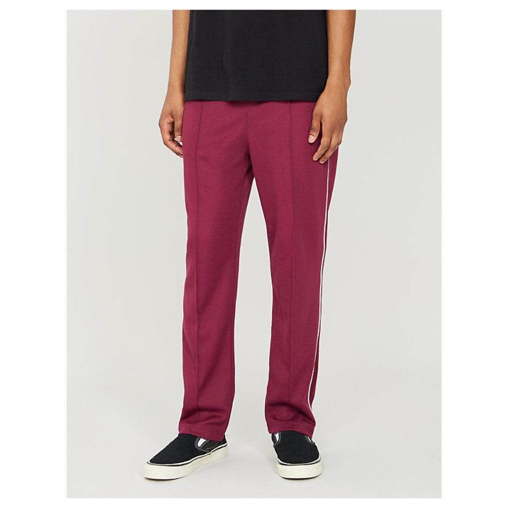 Side-stripe cotton-blend jogging bottoms