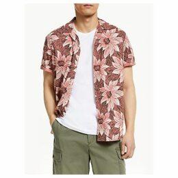 547085dcc John Lewis & Partners Desert Rose Short Sleeve Shirt, Mineral Red