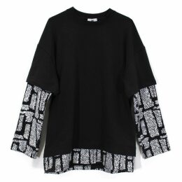 Lobo Mau - Fuzzy Print Grunge Sweatshirt