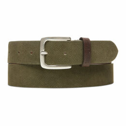 Timberland Suede Leather Belt For Men In Green Green, Size XL