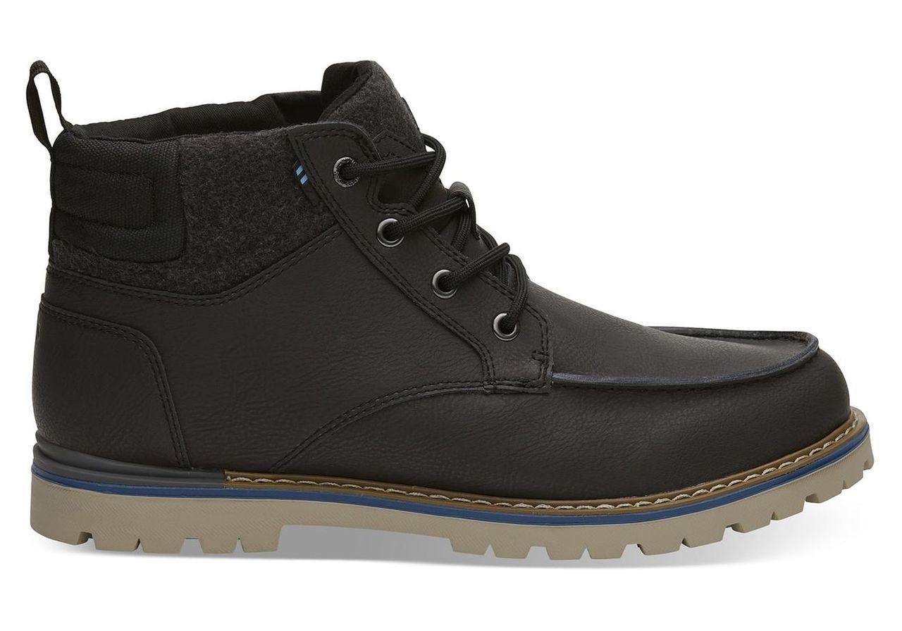 TOMS Waterproof Grey Leather Men's Hawthorne Boots - Size UK7.5 / US8.5