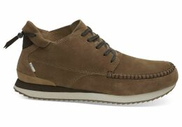 TOMS Water Resistant Toffee Suede Men's Balboa Mid Sneakers Shoes - Size UK7.5
