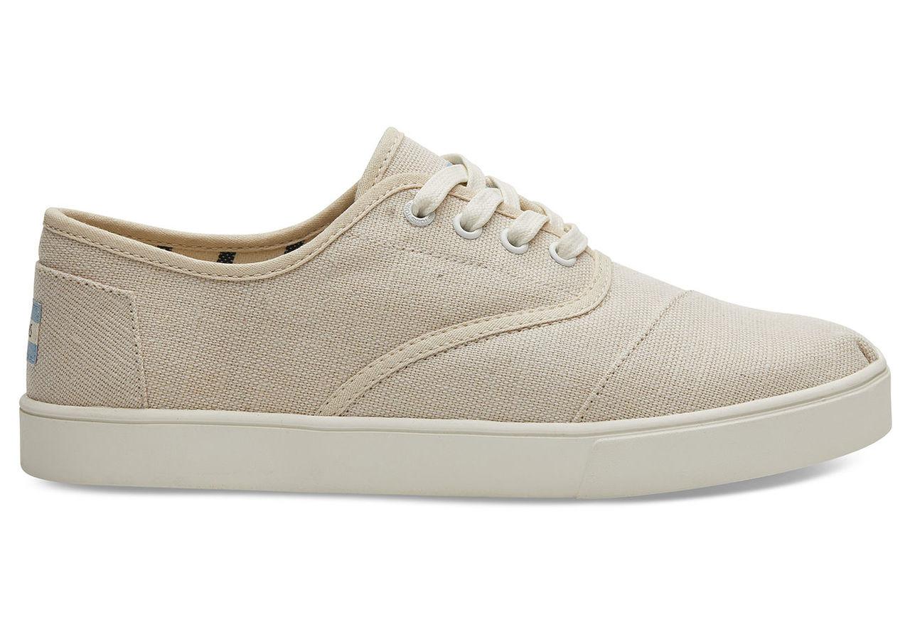 TOMS Tan Heritage Canvas Mens Cordones Shoes - Size UK8 / US9