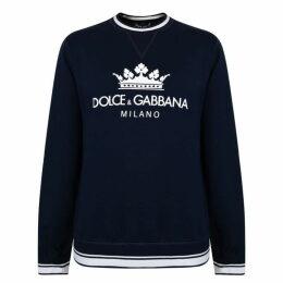 Dolce and Gabbana Milano Logo Crew Sweatshirt