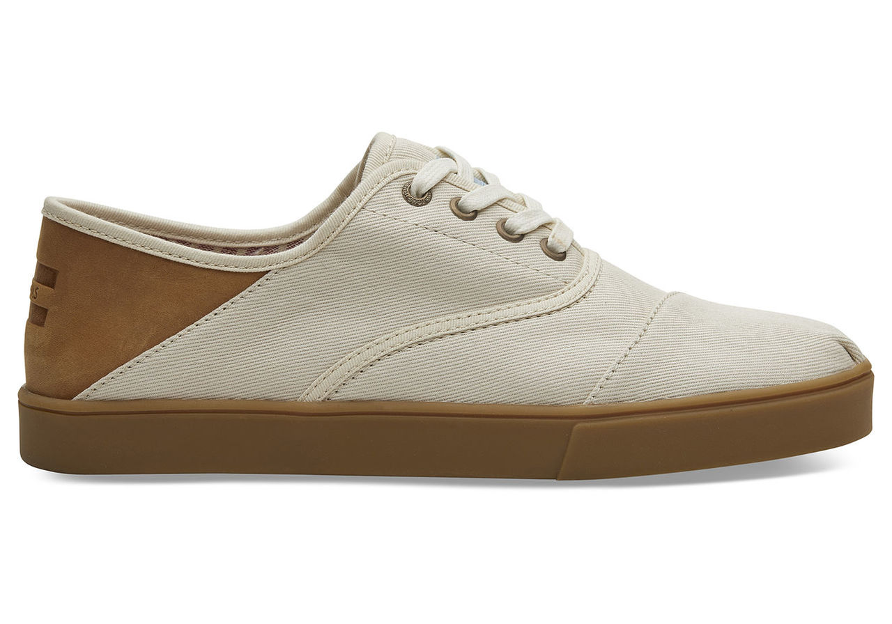 TOMS Natural Textured Twill Convertible Mens Cordones Shoes - Size UK7.5 / US8.5