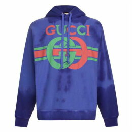 Gucci Vintage Fake Logo Hooded Sweatshirt