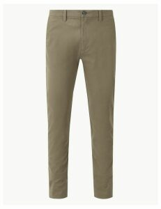 M&S Collection Shorter Length Cotton Rich Chinos with Stretch