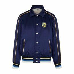 Maison Kitsuné Souvenir Navy Satin Jacket